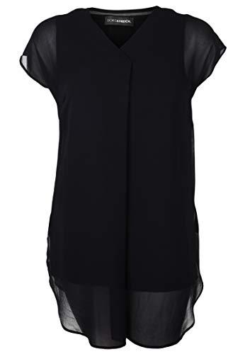Doris Streich Damen Bluse mit transparentem Überwurf Chiffon