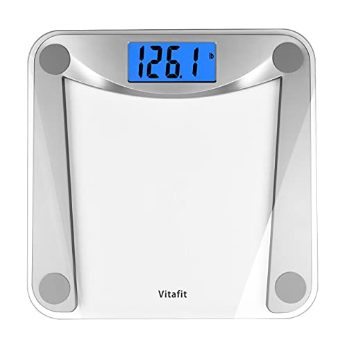 Vitafit Digital Body Weight Bathroom Scale Weighing Scale with Step-On...