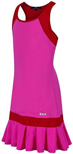 Bace Girls Pink & Red Tennis Dress Pleated Tennis Dress, Junior Tennis Dress, Girls Golf Dress, Kids Golf Clothing, Glrls Sportswear, Girls Netball Dress (13-14 Years Old)