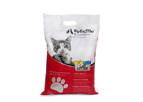Petville Exclusive Fast Clumping Cat Litter Lemon | 5 KG | Each | Pack of 2