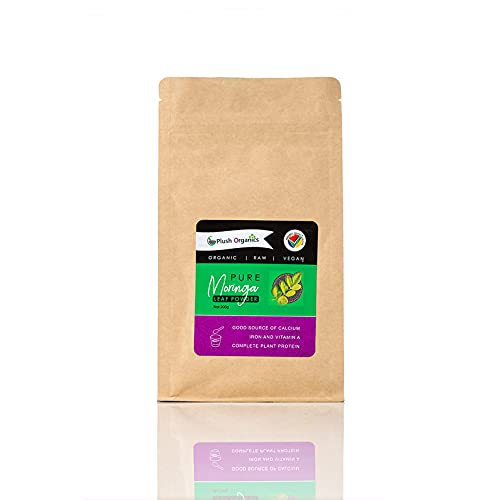 100% Pure Organic Moringa Leaf Powder - 200g Resealable Pack. Rich in Dietary Fibre, Plant Protein, Minerals & Anti-oxidants | Vegan | Superfood