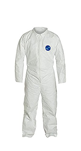 DuPont Tyvek 400 TY120S Disposable Protective Coverall, White, X-Large, pack of 25