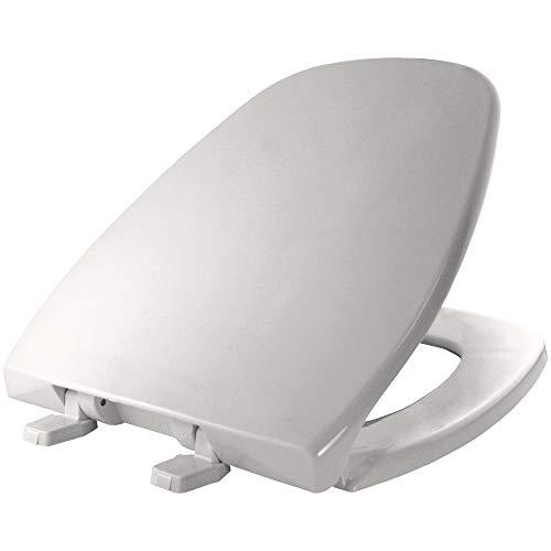 BEMIS 1240200 000 Eljer Emblem Plastic Toilet Seat, ROUND, White