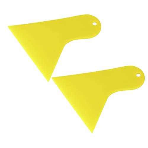 uxcell Yellow Plastic Car Auto Window Windshield Tint Film Scraper Cleaning 2 Pcs