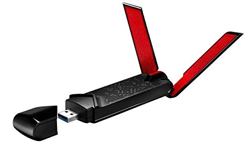 Asus USB-AC68 AC1900 Dual-Band Wi-Fi USB Stick (802.11ac, USB 3.0, Asus Gaming Design, TurboQAM)
