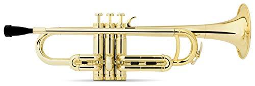 Classic Cantabile MardiBrass ABS Kunststoff Trompete - Perinet-Ventile - 510g leicht - Bohrung: 11,6 mm - inkl. Mundstück und Leichtkoffer - gold