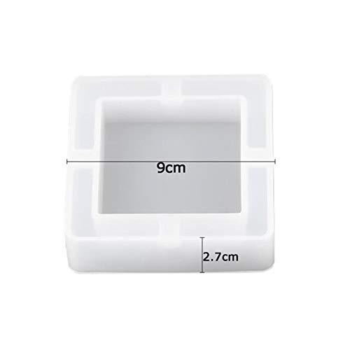 Klei hars siliconen mal 2 stks transparante spiegel asbak siliconen mal diy kristal epoxy hars hand maken ambachten schimmel vierkante/ronde vorm container