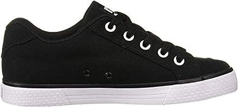 DC Women's Chelsea TX Skate Shoe, Black/White/Black, 10 M US