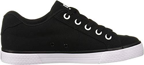DC Women's Chelsea TX Skate Shoe, Black/White/Black, 6 M US