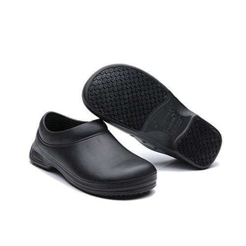 Zapatos de Seguridad Hombre Mujer Ligeros Comodo Antideslizantes Zuecos de Trabajo Camarera Cocina Calzado Sanitario