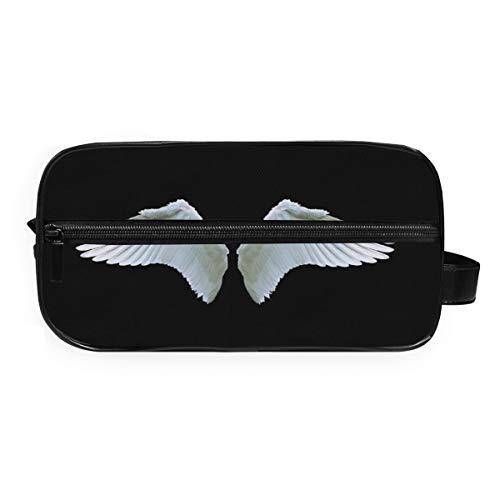 Fantazio Trousse de rangement pour salle de bain Motif ailes d'ange Blanc