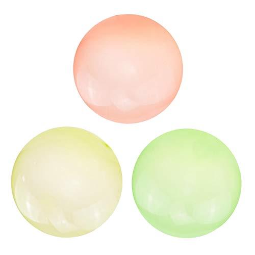 Milageto 3PC Bubble Ball Globo Bolas Divertidas Transparente Playa Piscina Juego de Boda Juguete