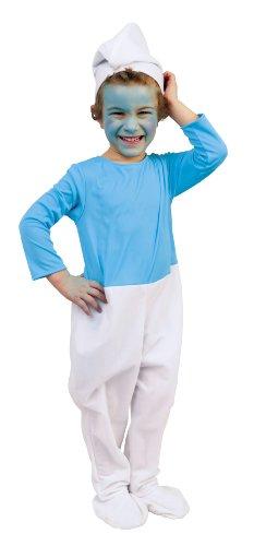 Cesar C134-002 - Costume da Puffo (Taglia 3-4 anni)