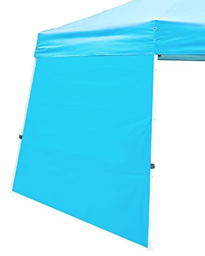 Ohuhu Wall Panel Accessory, Sidewall for Slant Leg Canopy Tent (10'x10' Base 8'x8' Top), Blue