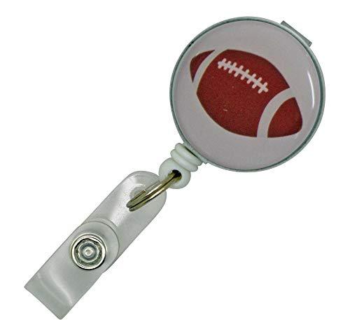 リールストラップ クリップ付き パスケース 名札 ストラップ 鍵等と一緒に 部活応援 ラグビーボール
