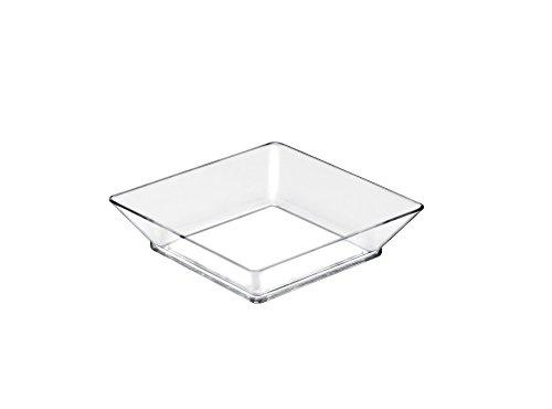 Gold Plast-25 Plateau Small Plate par paquet 65x65 mm transparent