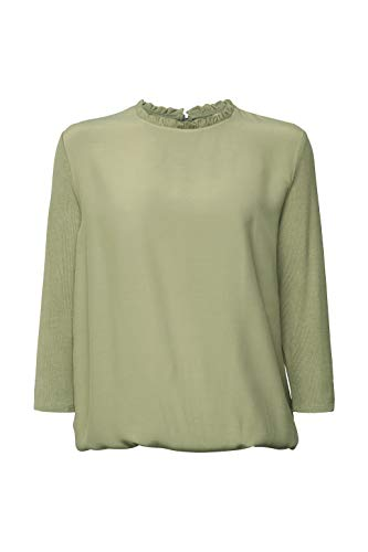 ESPRIT Material-Mix Shirt mit LENZING™ ECOVERO™