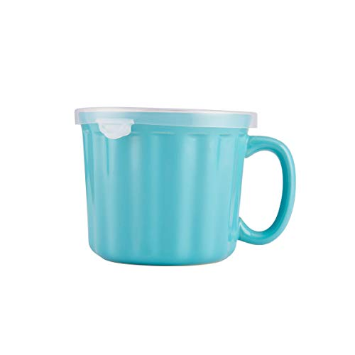 microwavable ceramic mug with lid - 2
