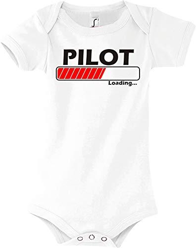 Shirtstown Body Bébé Pilot Chargement - Blanc, 18-24 Monate