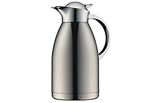 alfi Kaffeekanne Albergo TT, Thermoskanne Edelstahl mattiert 2,0l, mit TopTherm Edelstahleinsatz,0767.000.200, Isolierkanne hält 12 Stunden heiß, ideal für Kaffee oder Teekanne, Kanne für 16 Tassen