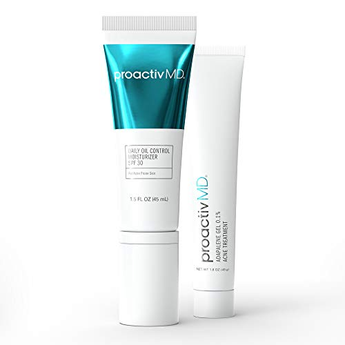 ProactivMD Adapalene Gel Acne Kit - Retinoid Acne Spot Treatment For Face And Moisturizer For Oily Skin With SPF 30