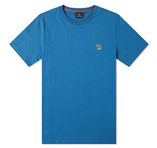 Paul Smith Zebra Badge Logo T-Shirt in Blu Inchiostro Blue XL