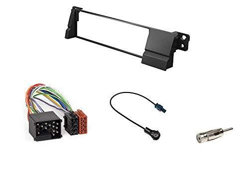 Audioproject A170 Kit de montage d'autoradio professionnel pour BMW Série 3 E46 Façade d'autoradio 2 adaptateurs d'antenne Fakra DIN ISO à broches rondes