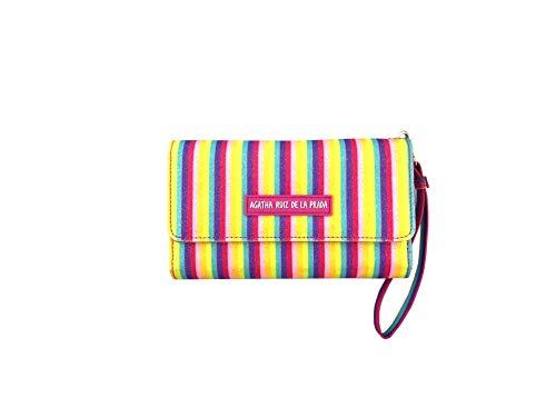 Monedero Cartera Billetero Grande para el movil de Mujer de Cuero Estampado con Arcoiris Multicolor Agatha Ruiz de la Prada