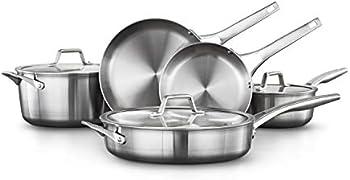 8-Piece Calphalon Premier Stainless Steel Pots & Pans Cookware Set