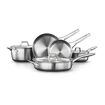 Calphalon Premier Stainless Steel Pots and Pans 8-Piece Cookware Set