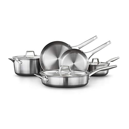 Calphalon Premier Stainless Steel Pots and Pans, 8-Piece Cookware Set