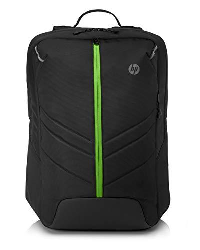 """HP Pavilion Gaming 500 Zaino per Notebook fino a 17,3"""", porta USB esterna con cavo integrato, impermeabile, pannello posteriore imbottito, spallacci ergonomici, nero"""