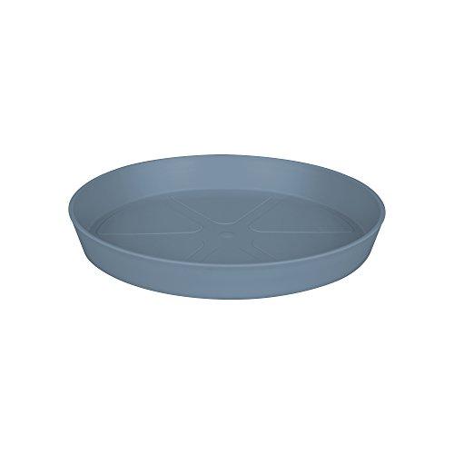 Elho Loft Urban Round Sottovaso, Vintage Blue, 34.5x34.5x4.6 cm