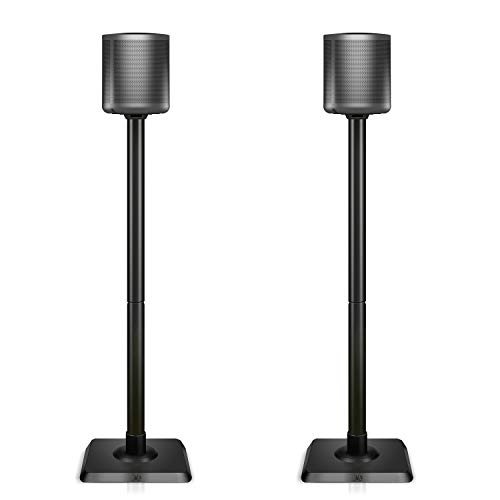 Mounting Dream Speaker Stands for Satellite & Small Bookshelf Speakers - Set of 2 Floor Stand Mount for Bose Polk JBL Sony Yamaha and Others - 11LBS Capacity MD5402 New Version (Speakers Not Included)