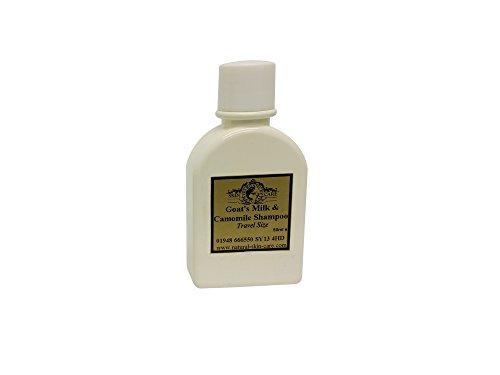 Shampooing au lait de chèvre et à la camomille pour le psoriasis, l'eczéma, la rosacée, la dermatite et autres problèmes de peau sèche et sensible (50 ml) fabriqué par Elegance Natural Skin Care.