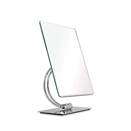 Busirsiz Metal Cosmetic Mirror, Portable Mirror, Handheld Mirror Square Mirror Simple Small Mirror