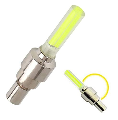 2PCS wasserdichtes LED-Fahrradreifenventil Vorbau Licht Fahrraddekoration LED-Blitzreifen Autolampen für Vorder- und Hinterrad