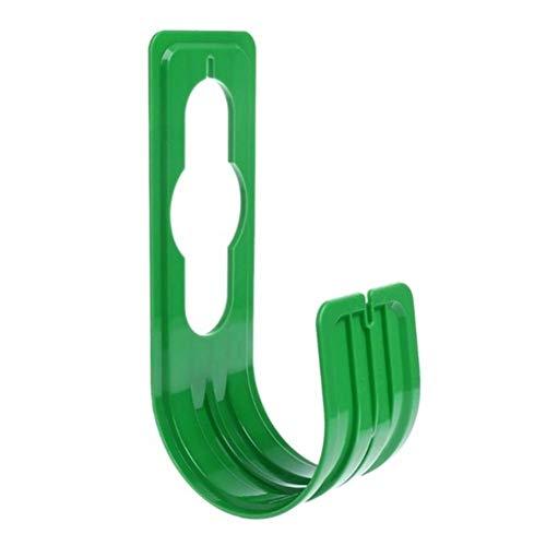 Manguera de almacenamiento en rack Winding marco expansible tubo de soporte manguera de jardín de plástico gancho del jardín de riego Ducha boquilla telescópica para jardinería (Color : Green)