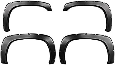 Premium Fender Flares for 1999-2006 Chevy Silverado/GMC Sierra (Incl. 2007 Classic Models) | Smooth Matte Black Paintable Pocket Bolt-Riveted Style 4pc