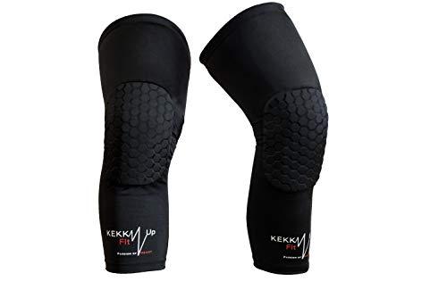 KEKKUPFIT – Rodilleras de baloncesto – Compresión – Calentadores para piernas con protecciones deportivas – Baloncesto – Voleibol – Porteras Fútbol – Balonmano.