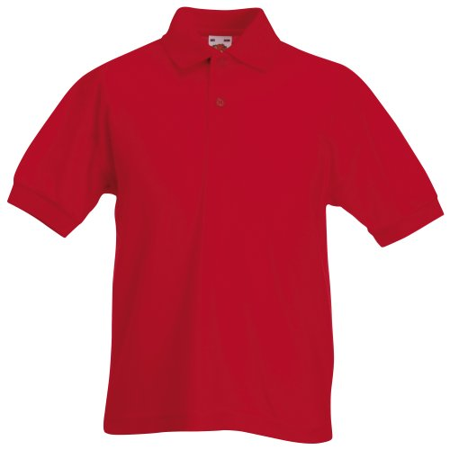 Fruit of the Loom Jungen Poloshirt rot rot 7-8 Jahre