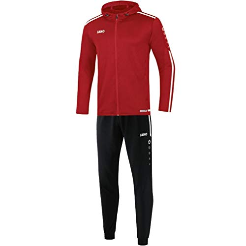 JAKO Kinder Striker 2.0 mit Kapuze Trainingsanzug Polyester, Chili rot/Weiß, 140
