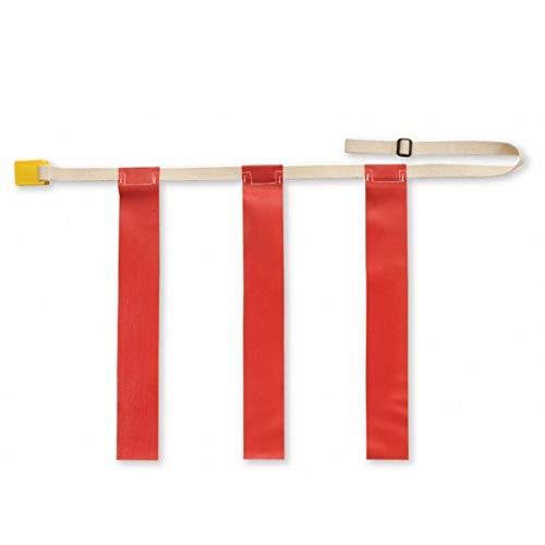 Triple Threat Cinturones de fútbol con bandera, rojo, XL (cada uno)