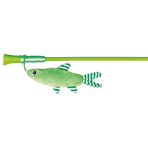 Trixie - Canna da gioco con pesce, 42 cm