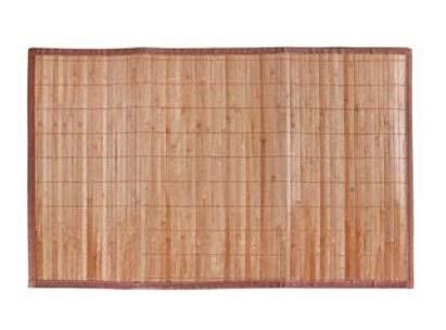 LEYENDAS Alfombra Antideslizante de Bambu,Alfombrilla de baño,Pasillo o Salon Repelente al Agua para la Ducha, marrón Claro (40_x_60_cm)