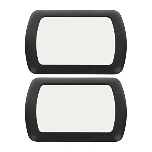 Ziyi 2 unids Coche Interior Espejo Sol Visera Espejo Decorativo Espejo automóvil tocador Maquillaje Espejo Espejo de vanidad