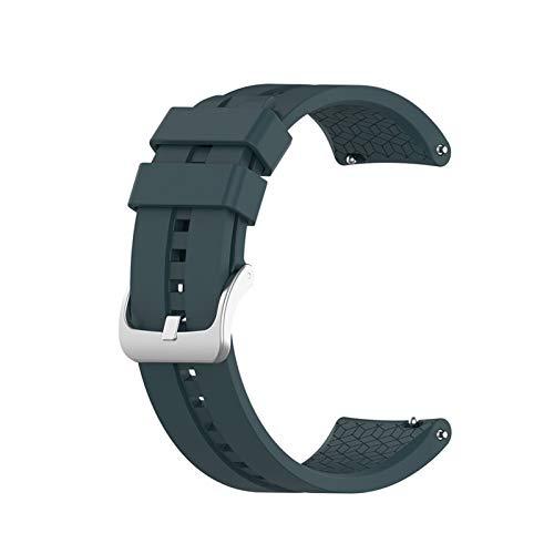 DXFFOK Correa de Pulsera de Silicona para Huawei Watch GT 42mm 46mm / para Engranaje S3 / para Honor Watch Magic Sport Pulsera Reloj Correas de Banda