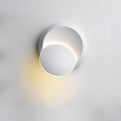 Lampada da Parete Illuminazione Interna 360 gradi Regolabile Ferro Applique da Parete Bianco Calda Lampada a Muro 5W Lampada da Parete a LED Luce per Casa Hotel Ristorante (Bianco)