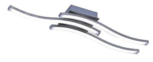 Reality Leuchten Route Lampada da soffitto 5 W, Nickel Satinato