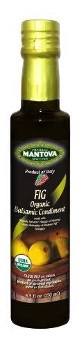 Mantova Organic Fig Balsamic Vinegar of Modena, Perfect for Salad Dressing, Pasta Salad, Ice Cream and Cocktails, 8.5 oz